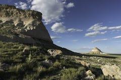 Het westen en van het Oosten Butte van Pawnee in het Noorden - oostelijk Colorado Stock Afbeeldingen