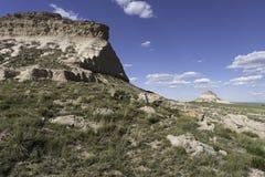 Het westen en van het Oosten Butte van Pawnee in het Noorden - oostelijk Colorado Stock Foto's