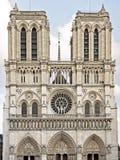 Het westen façade Notre Dame DE Parijs royalty-vrije stock fotografie