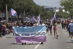 Het westen Hollywood, Los Angeles, Californië, de V.S., 14 Juni, 2015, 40ste jaarlijks Vrolijk Pride Parade voor LGBT-Gemeenschap Stock Fotografie