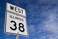 Het westen Hwy 38 teken Stock Foto's
