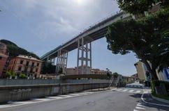 Het westen Ligurian autosnelweg stock afbeelding
