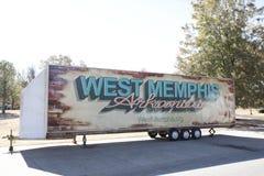Het westen Memphis Arkansas op een Aanhangwagen Stock Foto's
