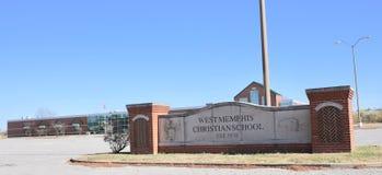 Het westen Memphis Christians School, West-Memphis, Arkansas stock foto's