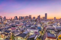 Het westen Shinjuku, Tokyo, Cityscape van Japan royalty-vrije stock foto's