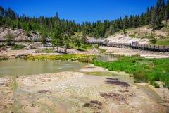 Het westenduim in het Nationale Park van Yellowstone, de V.S. Royalty-vrije Stock Afbeelding