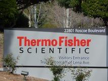 Het westenheuvels, CA/Verenigde Staten - April 1 2019: Thermofisher scientific stock foto's