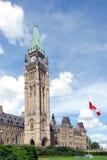 Het westenkant van de Bouw van het Parlement Stock Fotografie