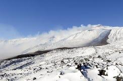 Het westenkant van Etna Stock Foto