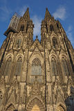 Het westenvoorgevel van de Kathedraal van Keulen (Keulen, Duitsland) stock afbeeldingen