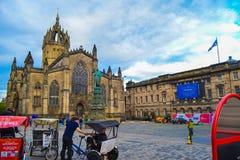 Het westenvoorgevel van St Giles ` Kathedraal Hoge Kirk van Edinburgh, royalty-vrije stock fotografie