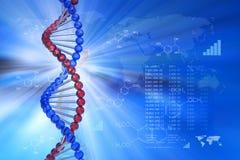 Het wetenschappelijke concept van de genetische biologie Stock Foto's