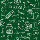 Het wetenschappelijke naadloze patroon van de schoolraad stock illustratie
