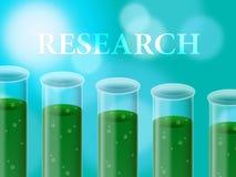 Het wetenschapslaboratorium vertegenwoordigt Studie onderzoekt en Chemie Stock Foto's