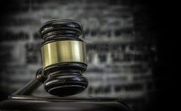 Het wettelijke beeld van het de krantekoppenconcept van de misdaadwet Royalty-vrije Stock Fotografie