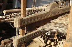Het Weven van de hand weefgetouwdetail stock afbeelding
