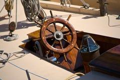 Het wiel van Captians Royalty-vrije Stock Afbeeldingen