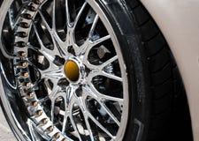 Het wiel van de auto Stock Foto's