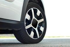 Het wiel van de auto Stock Afbeelding
