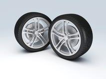 Het wiel van de auto futuristic spuit met lcd het scherm Royalty-vrije Stock Afbeeldingen