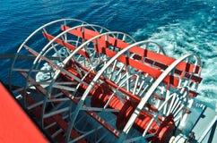 Het wiel van de bootstoom in M.S. Dixie II. Royalty-vrije Stock Afbeelding