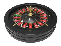 Het Wiel van de casinoroulette Stock Afbeeldingen
