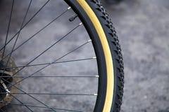 Het wiel van de fiets. Stock Fotografie