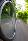 Het wiel van de fiets in motie Royalty-vrije Stock Fotografie