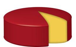 Het wiel van de kaas Stock Afbeeldingen