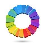 Het wiel van de kleur Stock Foto