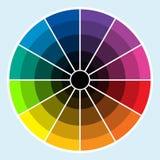 Het Wiel van de kleur - Dark Stock Foto