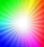 Het wiel van de kleur met uitbarsting van licht Royalty-vrije Stock Foto