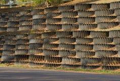 Het wiel van de mijnvrachtwagen Stock Fotografie