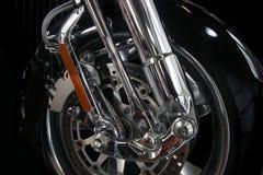 Het wiel van de motorfiets Stock Foto's