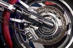 Het wiel van de motorfiets Stock Foto