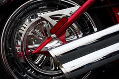 Het wiel van de motorfiets Royalty-vrije Stock Foto's
