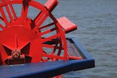Het Wiel van de Peddel van Riverboat royalty-vrije stock afbeeldingen