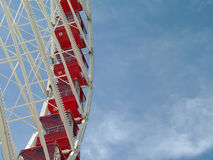 Het wiel van de pijlerferris van de marine Stock Afbeelding