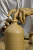 Het wiel van de pottenbakker Royalty-vrije Stock Afbeeldingen