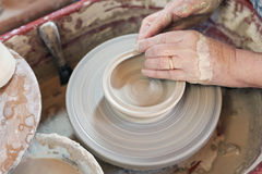 Het wiel van de pottenbakker Royalty-vrije Stock Foto