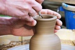 Het wiel van de pottenbakker Stock Afbeelding