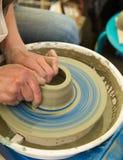Het wiel van de pottenbakker Stock Afbeeldingen