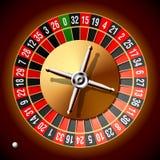 Het wiel van de roulette. Vector. Stock Afbeelding