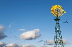 Het wiel van de speld voor het gebruiken van windenergie stock afbeelding