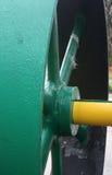 Het wiel van de stoommotor Stock Foto