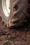 Het wiel van de tractor royalty-vrije stock afbeeldingen