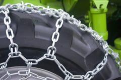 Het wiel van de tractor Stock Afbeelding
