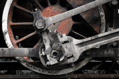 Het wiel van de trein Stock Afbeeldingen