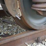 Het wiel van de trein stock fotografie