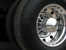 Het wiel van de vrachtwagen Stock Foto